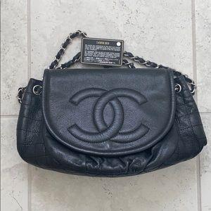Authentic Chanel large flap bag